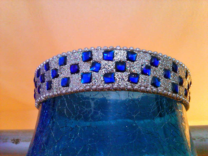 Glittery Blue Glass 2