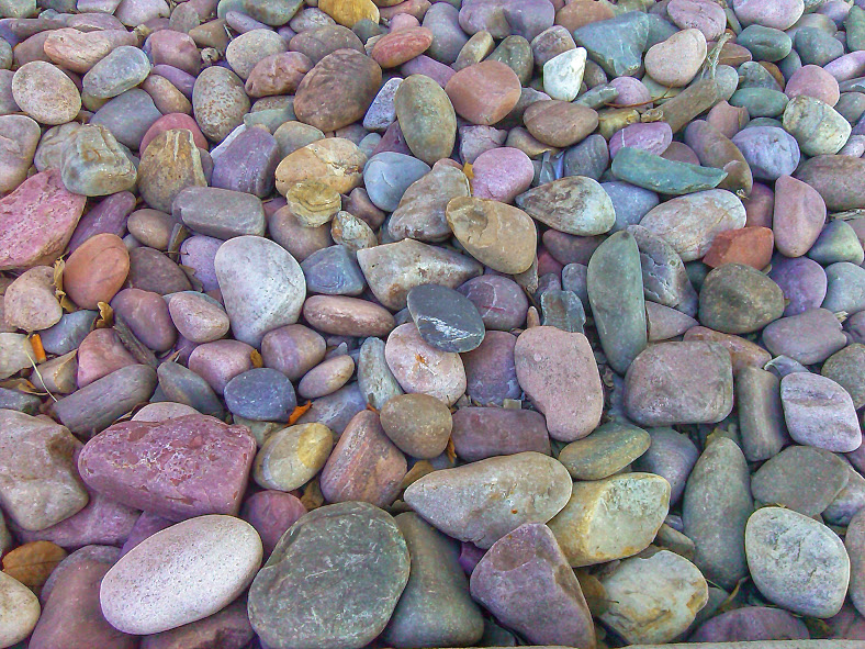 Rocks outside the hospital